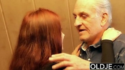 Young slut gets fucked hard fucked by old horny man he fucks her pussy and licks clit