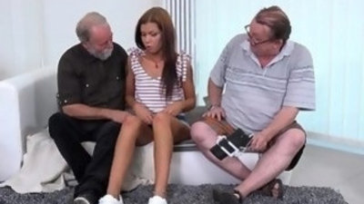 Old Goes Young Sofia Like fuck each other with two old guys