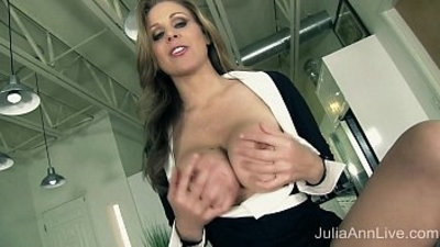 Milf Julia Ann Tells You To Pull Out Your hard Cock!