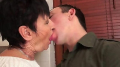 Cockhungry grandma fucked on real hard