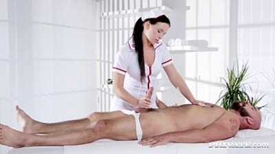 Naughty Natalee Nurses a Hard big Cock
