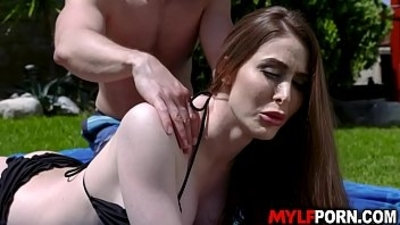 Big tits MILF Jessa Rose she seduces this hot stud Codey Stelle and got drilled her pussy fucking doggystyle while her perky tits jiggled.