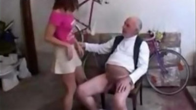 18 Year Old banged by Old Man
