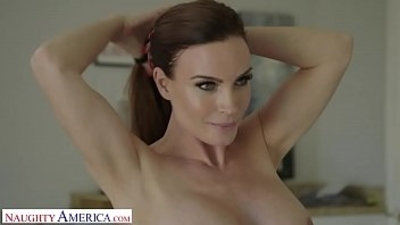 Naughty America Mrs. Culver showers with and fucks sons friend