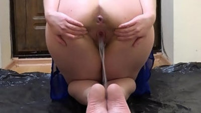 The best pissing and foot fetish the compilation of a golden shower from a hairy wet pussy in different poses.