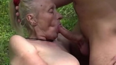 chubby years old granny first time outdoor sex