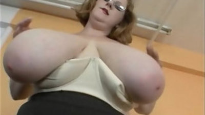 BBW MILF Strips To Show Off Her Massive Natural big Tits