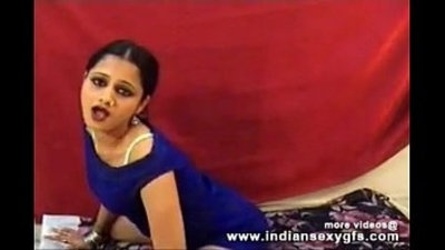 Hot Desi Anjana indian college girl dance squeezing her boobs on live sex webcam