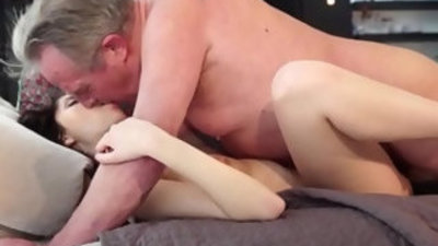 Old and Young Sweet innocent girlfriend gets anal fucked by grandpa